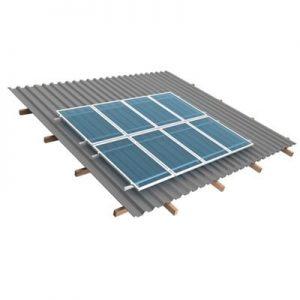 Estrutura de fixação para painéis solares