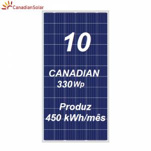 Kit Solar com Painéis Canadian Solar e Micro Inversores APsystems