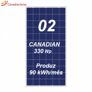 Kit Apsystems + 2 painéis Canadian Solar