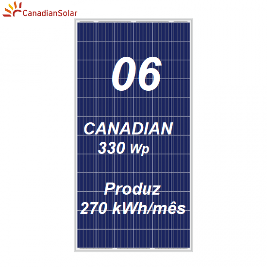 Kit Solar Canadian APsystems com 06 Painéis