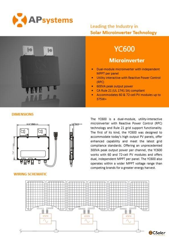 Datasheet YC600BR