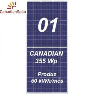 Kit Solar Canadian com 01 painel