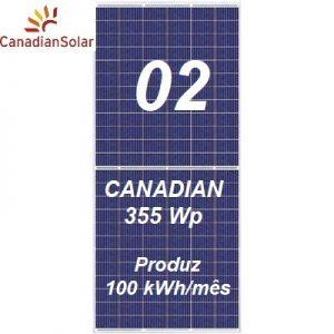 Canadian Solar kit 02 com dois painéis solares