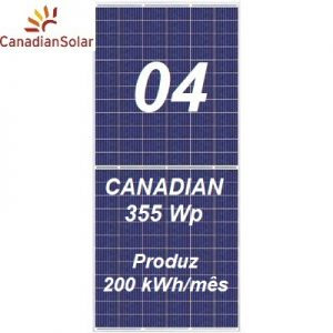 Kit Solar canadian com 04 painéis