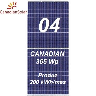 Kit Solar canadian com 04 painéis