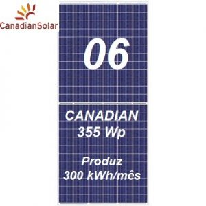 Placa Canadian Solar 355Wp
