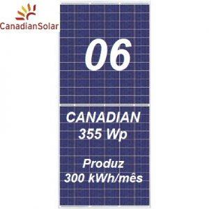 Placa Canadian Solar 355Wp