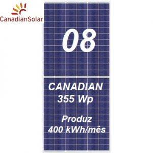 08 Painéis Solares Canadian Solar