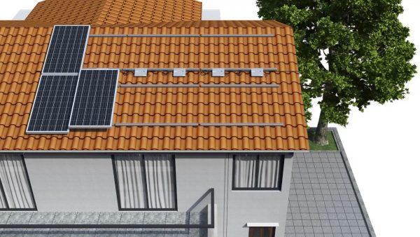Estrutura de Fixação de Painéis Solares em Telhas