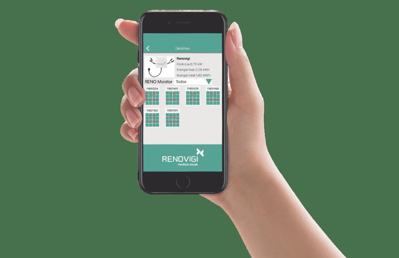 Monitoramento RENOVIGI pelo celular
